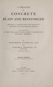 Cover of: A treatise on concrete, plain and reinforced