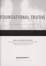 Cover of: Foundational truths | Couch, James F.