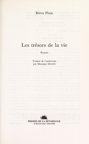 Cover of: Les tresors de la vie | Belva Plain
