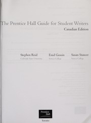 Cover of: The Prentice Hall guide for student writers | Stephen Reid