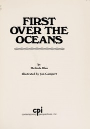 Cover of: First over the oceans | Melinda Blau