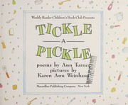 Cover of: Tickle a pickle