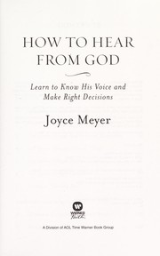 Cover of: How to hear from God | Joyce Meyer
