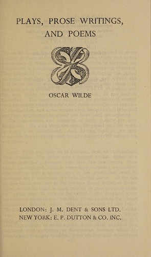 Plays Prose Writings And Poems 1960 Edition Open Library