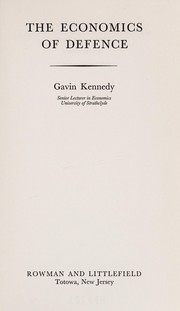 Cover of: The economics of defence | Gavin Kennedy