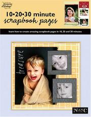 Cover of: 10 20 30 Minute Scrapbook Pages (Memories in the Making Scrapbooking)