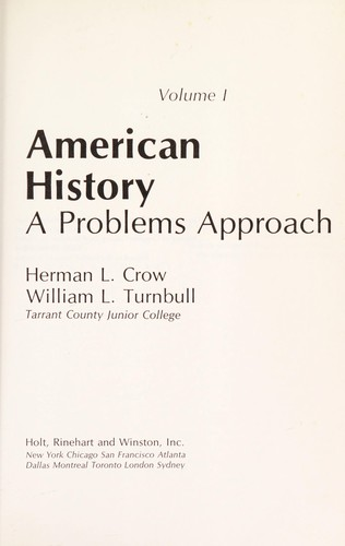 American history by Herman L. Crow