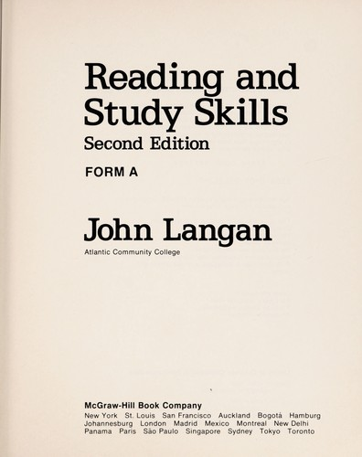 Reading and study skills by John Langan