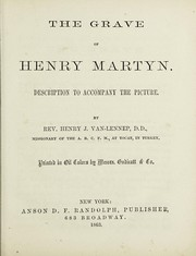 Cover of: The grave of Henry Martyn