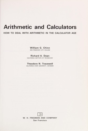 Arithmetic and calculators by William G. Chinn