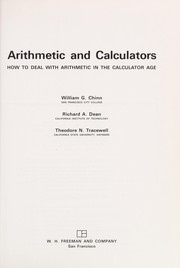 Cover of: Arithmetic and calculators | William G. Chinn