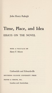 Cover of: Time, place, and idea
