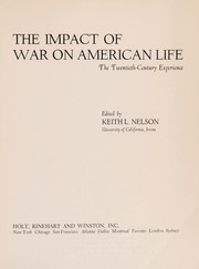 Cover of: The impact of war on American life
