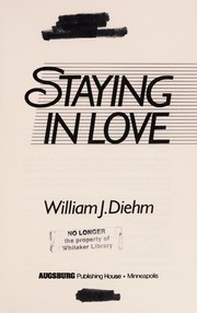 Cover of: Staying in love