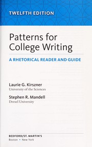 Cover of: Patterns for college writing