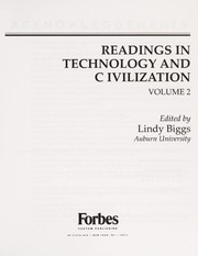 Cover of: Readings in technology and civilization