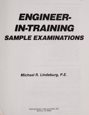 Cover of: Engineer-in-training sample examinations
