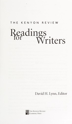 Readings for writers by David H. Lynn