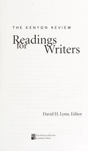 Cover of: Readings for writers | David H. Lynn