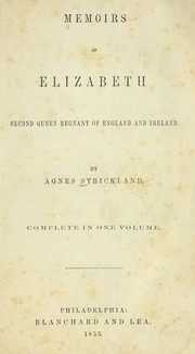 Cover of: Memoirs of Elizabeth