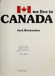 Cover of: We live in Canada | Jack Brickenden