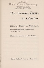 Cover of: The American dream in literature |