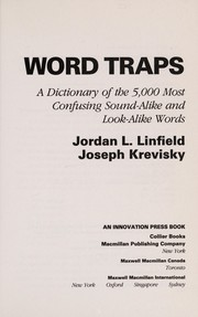 Cover of: Word traps | Jordan L. Linfield