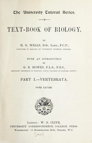 Cover of: Text-book of biology | H. G. Wells