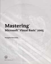 Cover of: Mastering Microsoft Visual Basic 2005 | Evangelos Petroutsos
