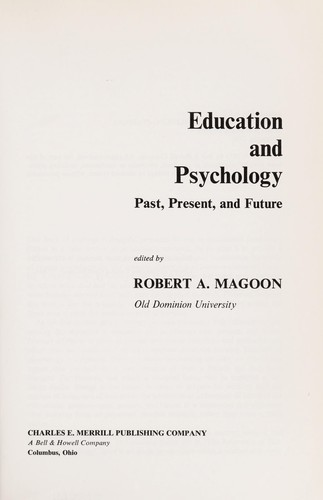 Education and psychology by Robert A. Magoon