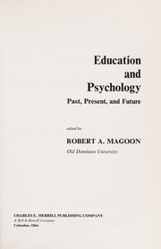 Cover of: Education and psychology | Robert A. Magoon