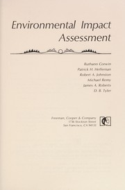 Cover of: Environmental impact assessment |