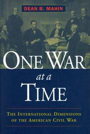 Cover of: One War at a Time