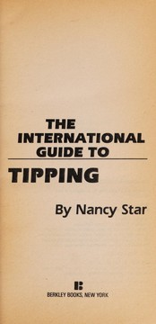 Cover of: The international guide to tipping