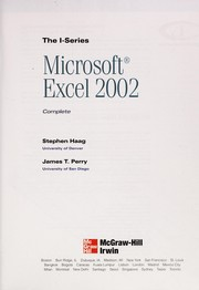 Cover of: Microsoft Excel 2002: complete