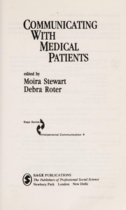 Cover of: Communicating with medical patients |