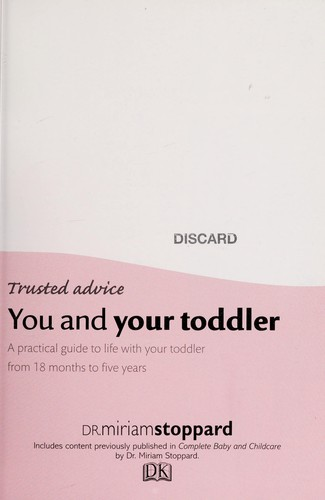 You and your toddler by Miriam Stoppard