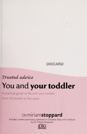 Cover of: You and your toddler | Miriam Stoppard