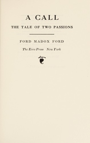 A call by Ford Madox Ford