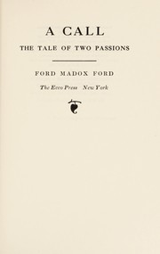 Cover of: A call | Ford Madox Ford