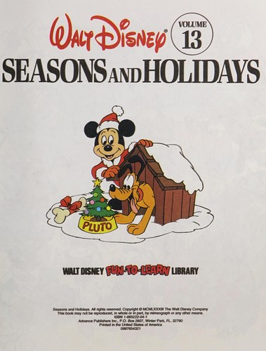 Seasons and Holidays by Walt Disney Productions