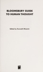 Cover of: Bloomsbury guide to human thought
