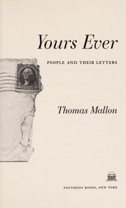 Cover of: Yours ever: people and their letters