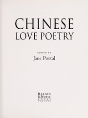Cover of: Chinese love poetry