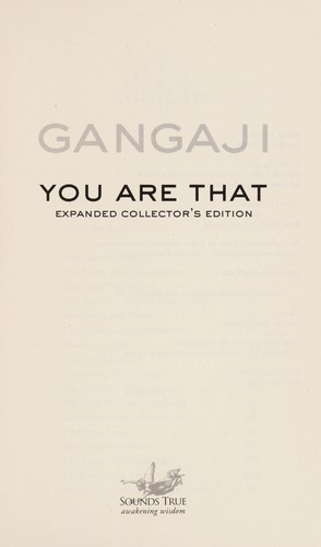 You are that! by Gangaji.