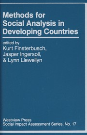 Cover of: Methods for social analysis in developing countries