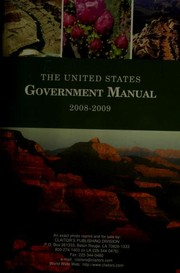 Cover of: The United States government manual 2008/2009 | United States. Office of the Federal Register