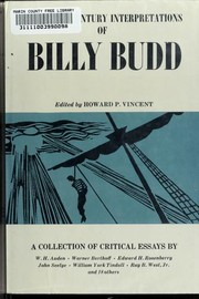 Cover of: Twentieth century interpretations of Billy Budd | Howard Paton Vincent