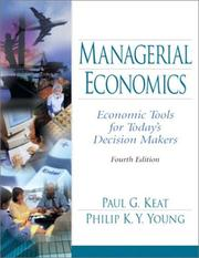 Cover of: Managerial Economics | Paul G. Keat, Philip K.Y. Young