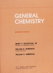 Cover of: General chemistry | William Harrison Nebergall